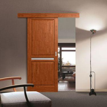 Фото раздвижной двери Wood Single в интерьере